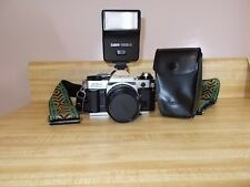 Canon AE-1 Program 35mm Camera with Spectrum 7, 1A 52mm  lens & 188 A Flash