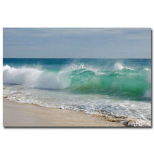 Hawaii Sea Beach Big Wave Silk Poster Wall Pictures For Living Room 24x36 inch