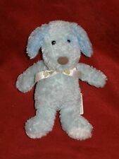 Baby Connection - Puppy Dog Rattle Plush Bean Bag - Blue 4""