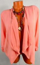 MAURICES PINK WOMEN'S PLUS SIZE RUCHED 3/4 SLEEVE OPEN DRESSY BLAZER 2, 2X
