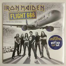 Iron Maiden Flight 666 2-LP UK 2009 Fotodisco color portada gatefold