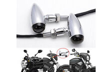 2x Chrome Duty Bullet Turn Signals Indicators Blinkers Lights For Heavy