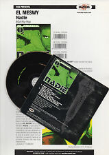 "EL MESWY ""NADIE"" RARE SPANISH PROMO CD SINGLE+INFO SHEET / CLUB POETAS VIOLENTOS"
