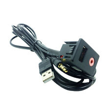 Auto Car 3.5mm USB AUX Headphone Male Jack Mount Panel Input Adapter Hot