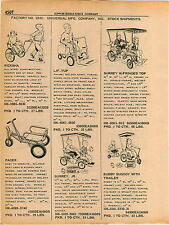1961 ADVERT Universal Toy Co Surrey Buddy Buggy High Lift Lif Tup Pedal Car Type