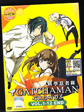 *NEW* GATCHMAN CROWDS SEASON ONE *12 EPISODES*ENGLISH SUBS*ANIME LOT*US SELLER*