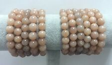Orange Moon Stone Round bead 9-10MM Stretch Bracelet 7.5""