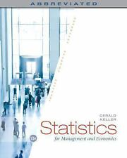 Statistics for Management and Economics, Abbreviated by Keller, Gerald