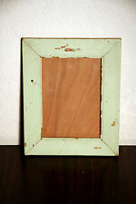Shabby Distressed Cottage Chic Country Picture Frames Light Green/ Teal