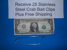 25 each Crab Trap Net Line Bait Clips Stainless Steel CrabHoudini Free Shipping
