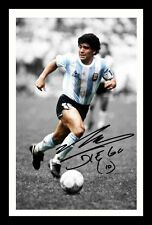 DIEGO MARADONA AUTOGRAPHED SIGNED & FRAMED PP POSTER PHOTO
