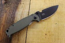 NEW DPx Gear HEST /F 2.0 OD G10 D2 Plain Edge LH Folding Knife Titanium DPHSF006