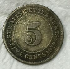 1919 KGV 5 cents silver  coin  very nice!