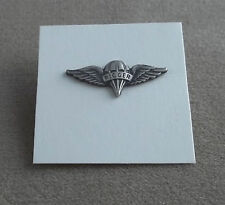 US Army Miniature Parachute Rigger Badge / Silver Oxide Finish NOS