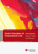 Used Book:  Ford's Principles Corporate Law 16th Edition
