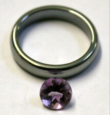 NATURAL ROUND CUT AMETHYST GEMSTONE 7MM LOOSE 1.4CT FACETED  GEM AM61F