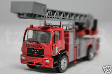 Affluent Town 1:64 Diecast MAN Fire Ladder Truck RED Constructor Vehicle Rescue