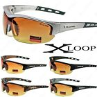 New X-Loop HD High Definition Clarity Lenses Mens Sunglasses Sports Driving Wrap