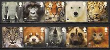 GB 2011 sg3162-71 WWF Safeguarding The Natural World - Animals - Set MNH