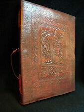 TREE of LIFE Pagan Wicca Handmade Leather ALTAR BOOK Grimoire Book-of-Shadows