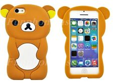 BIG Brown Teddy Bear iPhone 6S RILAKKUMA CASE SILICONE 3D Carino COVER NUOVO Regno Unito
