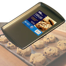 NON STICK HARDENED STEEL COOKIE CUPCAKE CAKE BAKING PAN TRAY SHEET TIN BAKEWARE