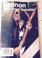 John Lennon 1981 Color Calendar Special Collector's Edition, The Beatles