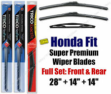 Top-of-the-line Wipers 3pk Front & Rear - fit 2009-2015 Honda Fit 16280/140/14B