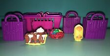 Shopkins Season 2 Retired Lot of 3 Bakery - Common & Rare with Bags & Basket