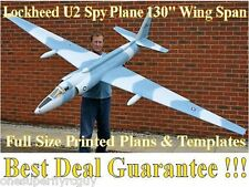 "Lochkeed U-2 Spy Plane 130"" WS Giant Scale RC Airplane PRINTED Plans & Templates"