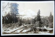 **1930's VIEW OF MT. SHASTA ON ROAD TO ICE CAVES CALIFORNIA ~ RPPC