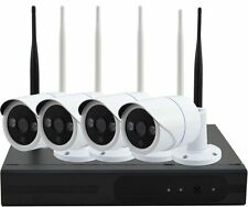 4ch Wireless 960p HDMI a NVR Outdoor HD IP CAMERA KIT CCTV Sistema di sicurezza