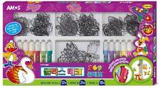 AMOS Glass Deco Decoration Art Craft Kit for kids - 12 Colours 20  Suncatcher