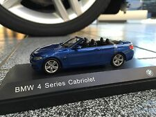 BMW 4er Cabrio F33 Maßstab 1:43  Farbe Estorilblau / Scale 1:43 Estoril Blue