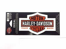 Genuine Harley Davidson Decal Long Bar & Shield Orange & Black Small New D3121
