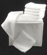 White Face Towels Wash Cloths Flannels 100% Cotton 450gsm Pack of 12