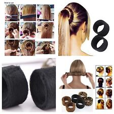 Set Of 1 (2pcs)fashion Hair Band Acessories Hairpin Bun Tail Magic Styling Tool