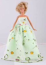 New Wholesale Handmade Green The original soft clothes dress for barbies doll 76