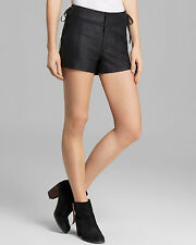 NEW! Free People Sz 12 Shorts PANTS $128 Retail Vegan Faux Leather Lace Up Sides