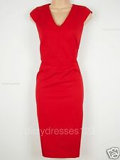BNWT Savoir Red Pencil Dress Size 20 Stretch RRP £62