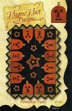 Pumpkin Party Wool Table Penny Rug Halloween Quilt Pattern Wagons West Designs