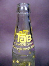 vintage ACL SODA ACL BOTTLE - early diet TAB from COCA-COLA  - 10 oz POP BOTTLE