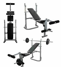Weight lifting Bench Adjustable & folding training bench. Leg extension