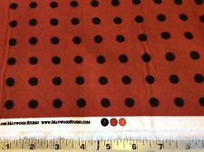 MAYWOOD STUDIO #F18145-R2-DOTS ON RED WOOLIES FLANNEL-BY THE YARD