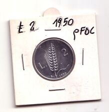 Repubblica Italiana 2 lire 1950  Spiga  Italma   qFDC    (m842)