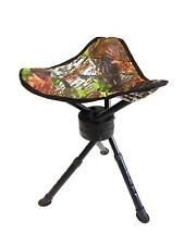 SWIVEL CAMO STOOL SEAT CHAIR PIGEON SHOOTING HIDE ROTATING SPINNING FOLDING