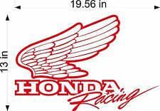 Honda Racing Logo Decal vinyl sticker graphic, trailer decal, window graphic