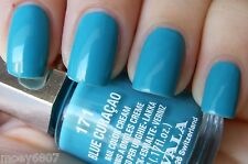 New! .17oz MAVALA Nail Polish Color **BLUE CURACAO** Bright Blue Shimmer Lacquer