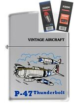 Zippo 250 P-47 Thunderbolt WW2 Lighter with *FLINT & WICK GIFT SET*