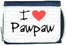I Love Heart Pawpaw Denim Wallet